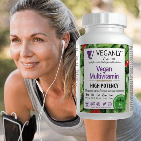 Veganly Vitamins- Vegan Multivitamins provide energy and support vegan plant-base diet