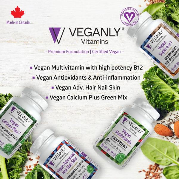 Veganly Vitamins- Product line up